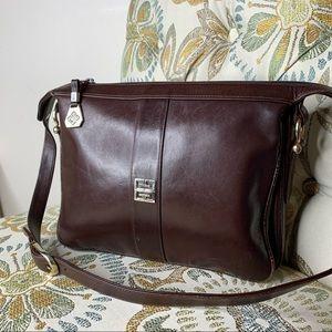 Vintage Givenchy Spain Brown Leather Shoulder Bag